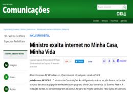 Minicom destaca visita do ministro na PB